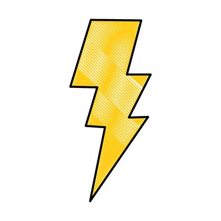 Power lightning storm light icon image vector illustration