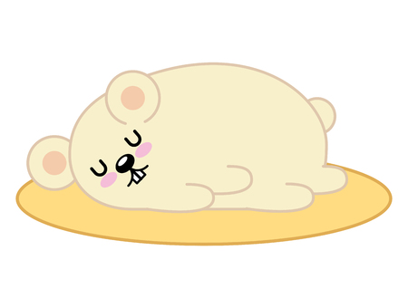 Cute hamster sleeping character vector illustration design