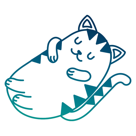 Adorable cat sleeping resting cartoon vector illustration vector illustration