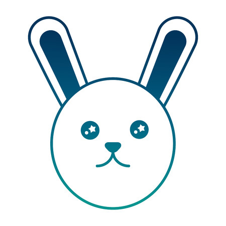 Cute rabbit cartoon adorable vector illustration