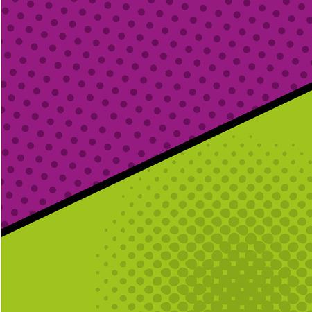 Pattern dots pop art style Ilustração