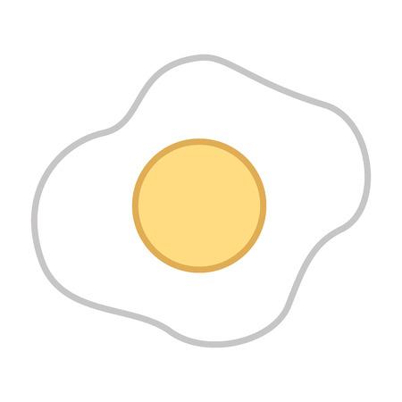 fried egg food breakfast image vector illustration