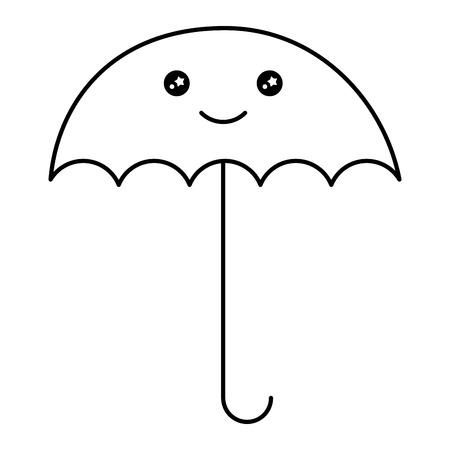 An umbrella character vector illustration design