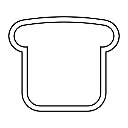 A bread toast vector illustration design Illusztráció