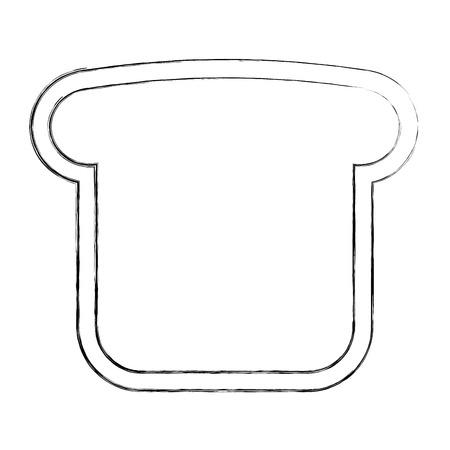 bread toast slice  character vector illustration design