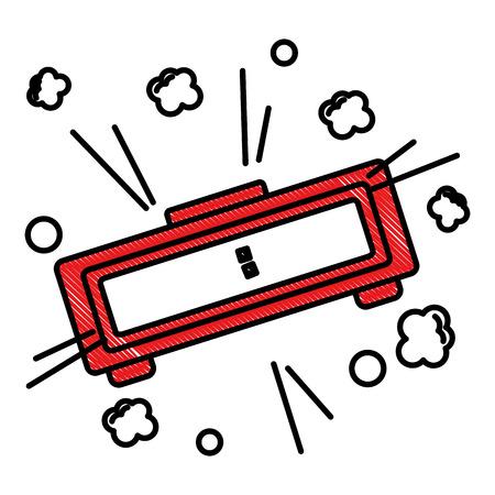 Digital alarm clock pop art style vector illustration 写真素材 - 100465133