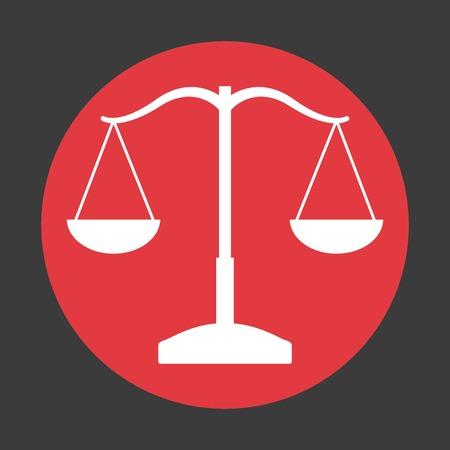 Balance icon design Illustration