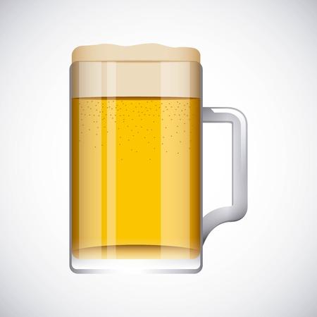 Cold beer design Standard-Bild - 100477122