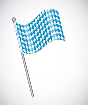 Blue flag design