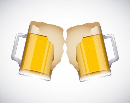 2 cold beers design