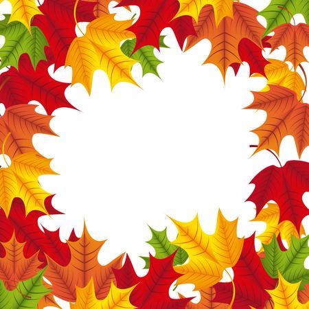 Maple leaf border for cards Ilustração