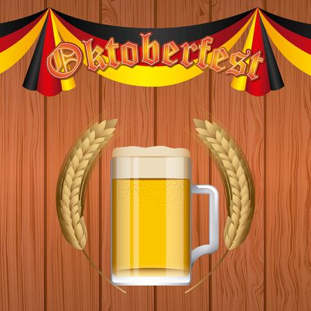Oktoberfest design with beer mug
