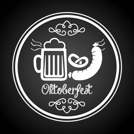 Oktoberfest design beer and hotdog
