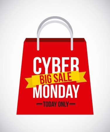Cyber monday sale design Illustration