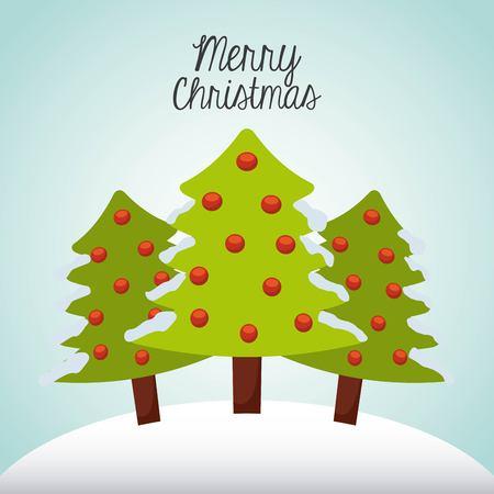 happy merry christmas card design 向量圖像