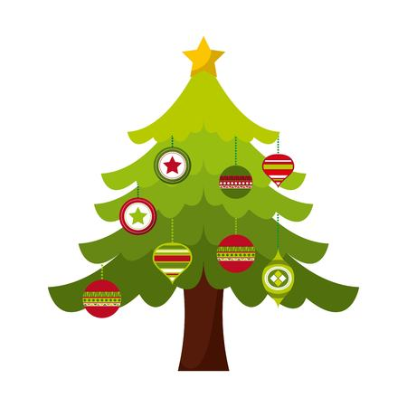 happy merry christmas card design, vector Illustration