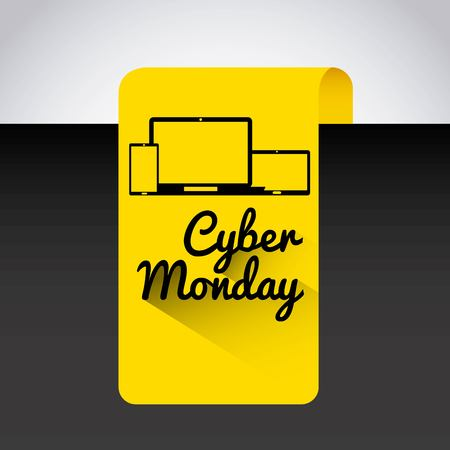 cyber monday deals design, vector illustration