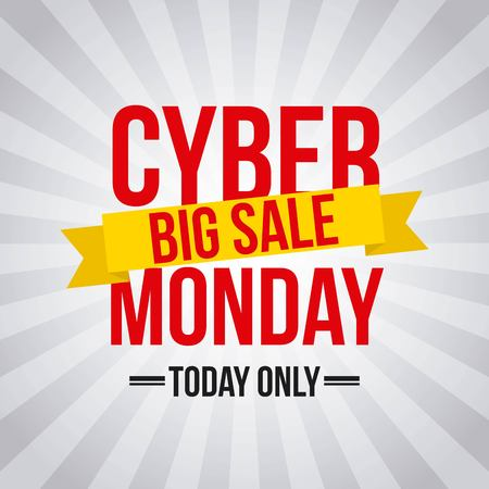 cyber monday deals design Illustration
