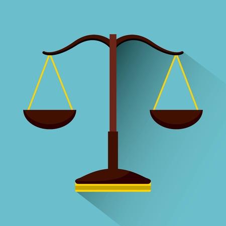 Balance icon design, vector illustration graphic design
