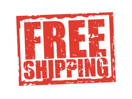 Free shipping design, vector illustration graphic