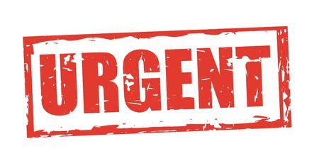 Urgent stamp design, vector illustration graphic