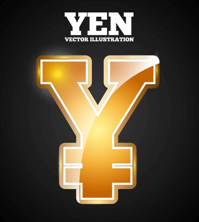 yen symbol design, vector illustration eps10 graphic
