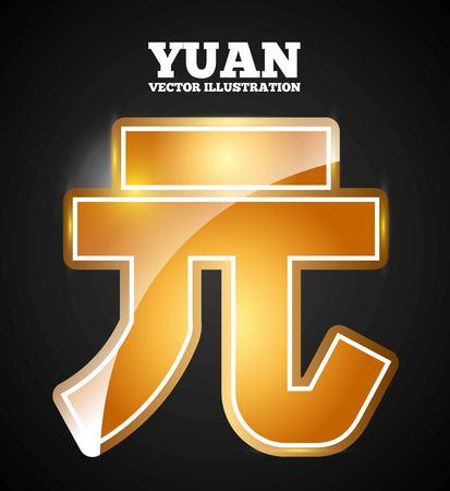 yuan symbol design, vector illustration eps10 graphic Illustration
