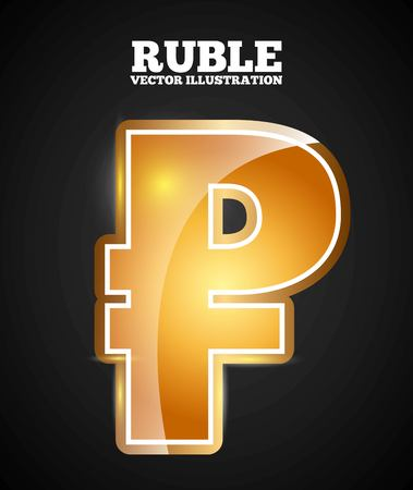 ruble symbol design, vector illustration eps10 graphic