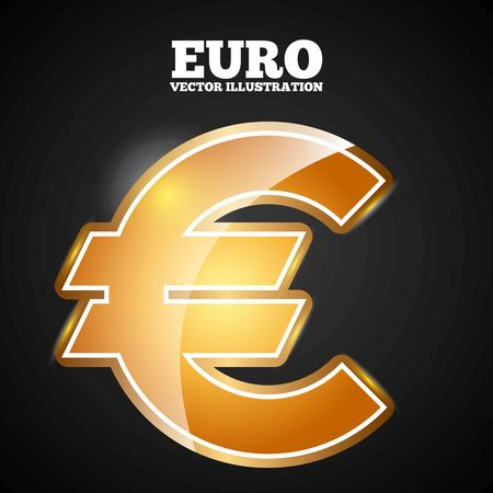euro symbol design, vector illustration eps10 graphic