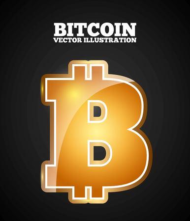 bitcoin symbol design, vector illustration eps10 graphic