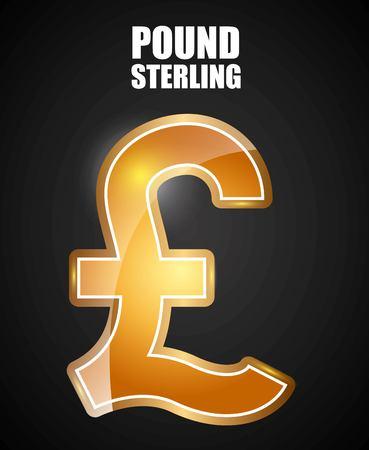 Pound sterling symbol design, vector illustration  graphic