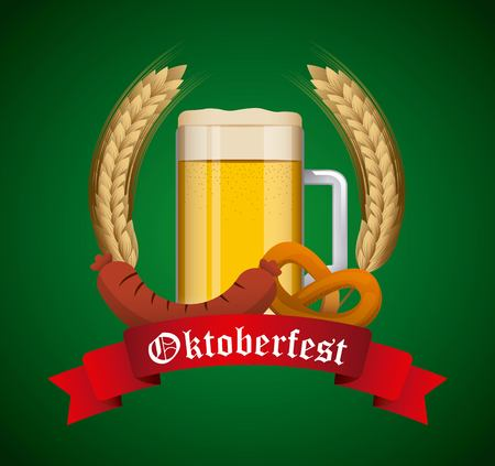 Welcome octoberfest design, vector illustration graphic flat design