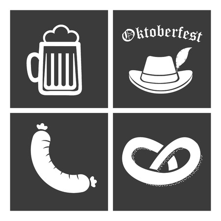 Welcome oktoberfest design, vector illustration graphic on black