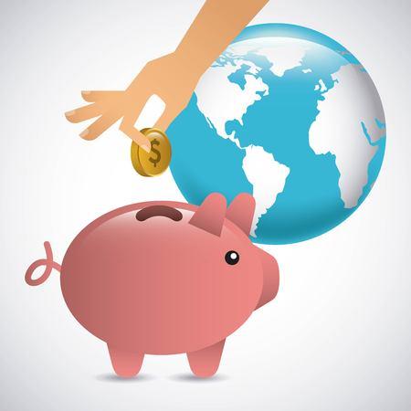 Money concept design, vector illustration graphic design 向量圖像