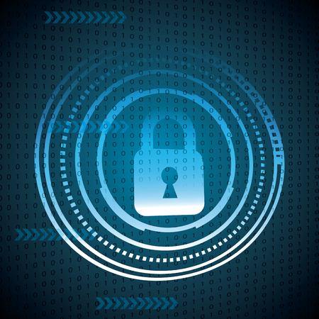 cyber security digital speed circuit degrade background binary padlocks protection vector illustration