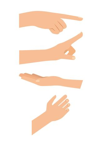 cyber security technology hands point holding touching vector illustration