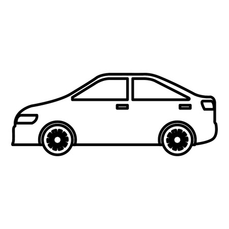 car sedan vehicle icon vector illustration design