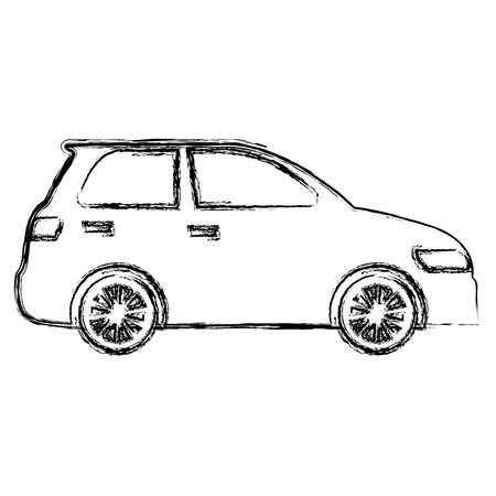 Auto Limousine Fahrzeugikone Vektor-Illustration Design