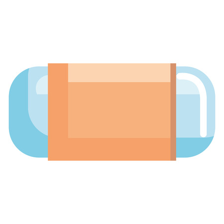 eraser school supply icon vector illustration design Stock Illustratie