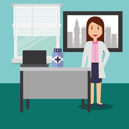Doctor female in consulting room