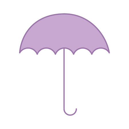 umbrella open isolated icon vector illustration design Ilustrace