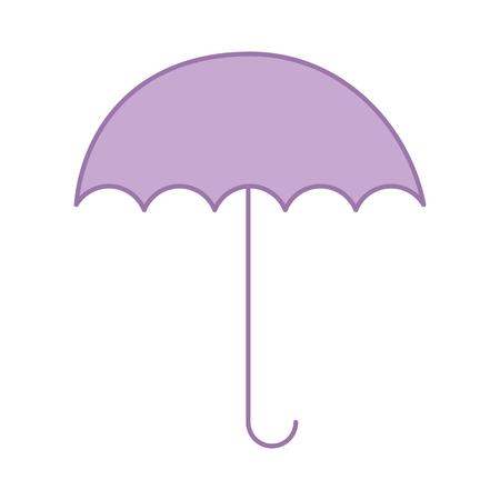 umbrella open isolated icon vector illustration design Illusztráció
