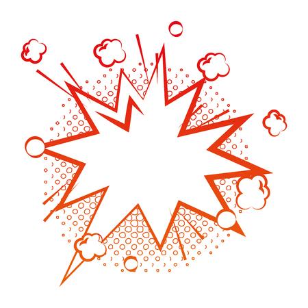 speech bubble comic pop art icon vector illustration design