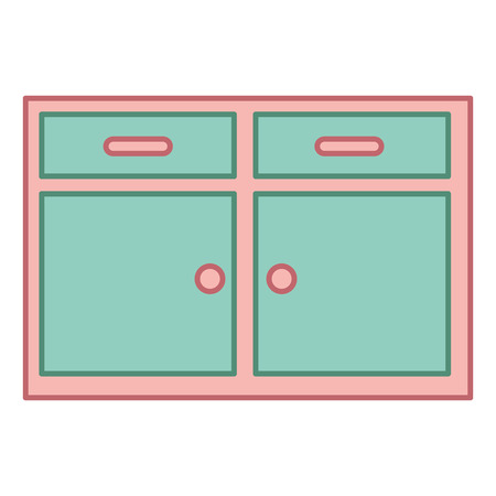 kitchen drawer isolated icon vector illustration design