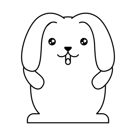 cute rabbit with floppy ears  character vector illustration design