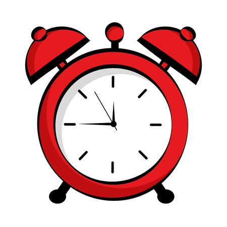 alarm clock pop art style vector illustration design Stock Illustratie
