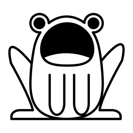 cute toad character vector illustration design Illustration