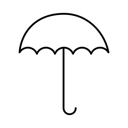 umbrella open isolated icon vector illustration design Archivio Fotografico - 100657448