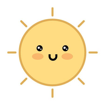 cute sun character vector illustration design Illustration