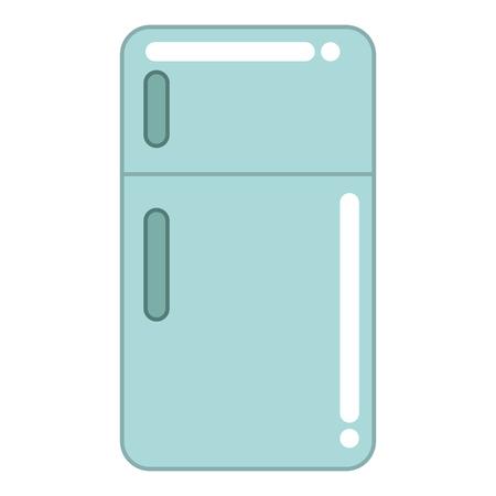 Réfrigérateur cuisine appareil icône vector illustration design